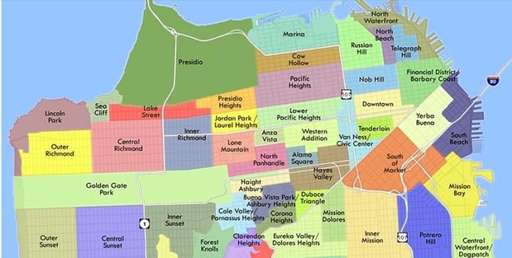 SF neighborhood map